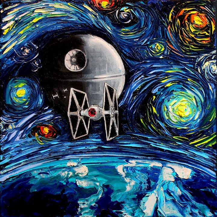 01-Star-Wars-Aja-Trier-Vincent-Van-Gogh-Paintings-and-a-Sprinkle-of-Pop-Culture-www-designstack-co