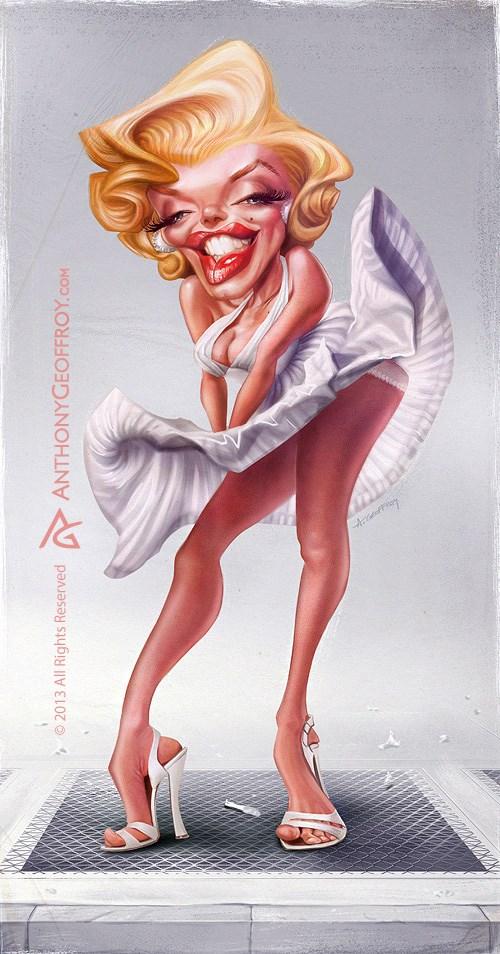 Marilyn Monroe por Anthony Geoffroy
