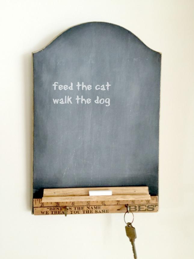 Make a Cutting Board into a Chalkboard Center