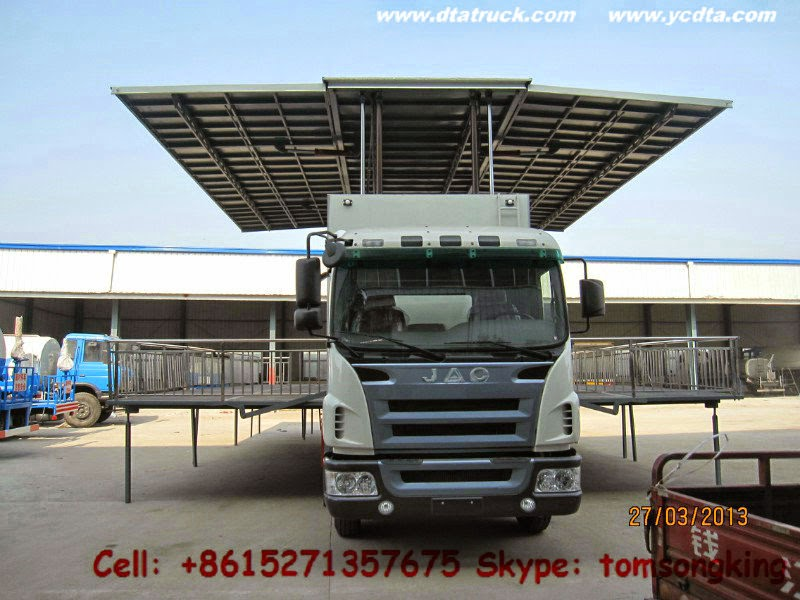 publicize truck Customization JAC stage truck show mobile