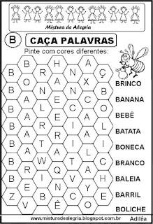 Caça palavras letra B