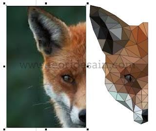 meghapus objek gambar pada desain logo low poly