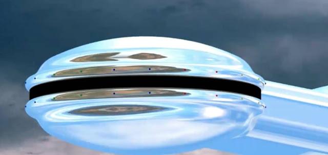 El OVNI visto por los tres testigos, uno de ellos un científico del Departamento de Defensa, que se encontraban en un viaje de cacería en Ontario, Canadá.