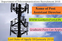Department of Telecommunications Recruitment 2018- Assistant Director