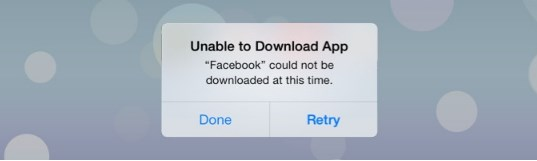 why can't i download facebook on my iphone