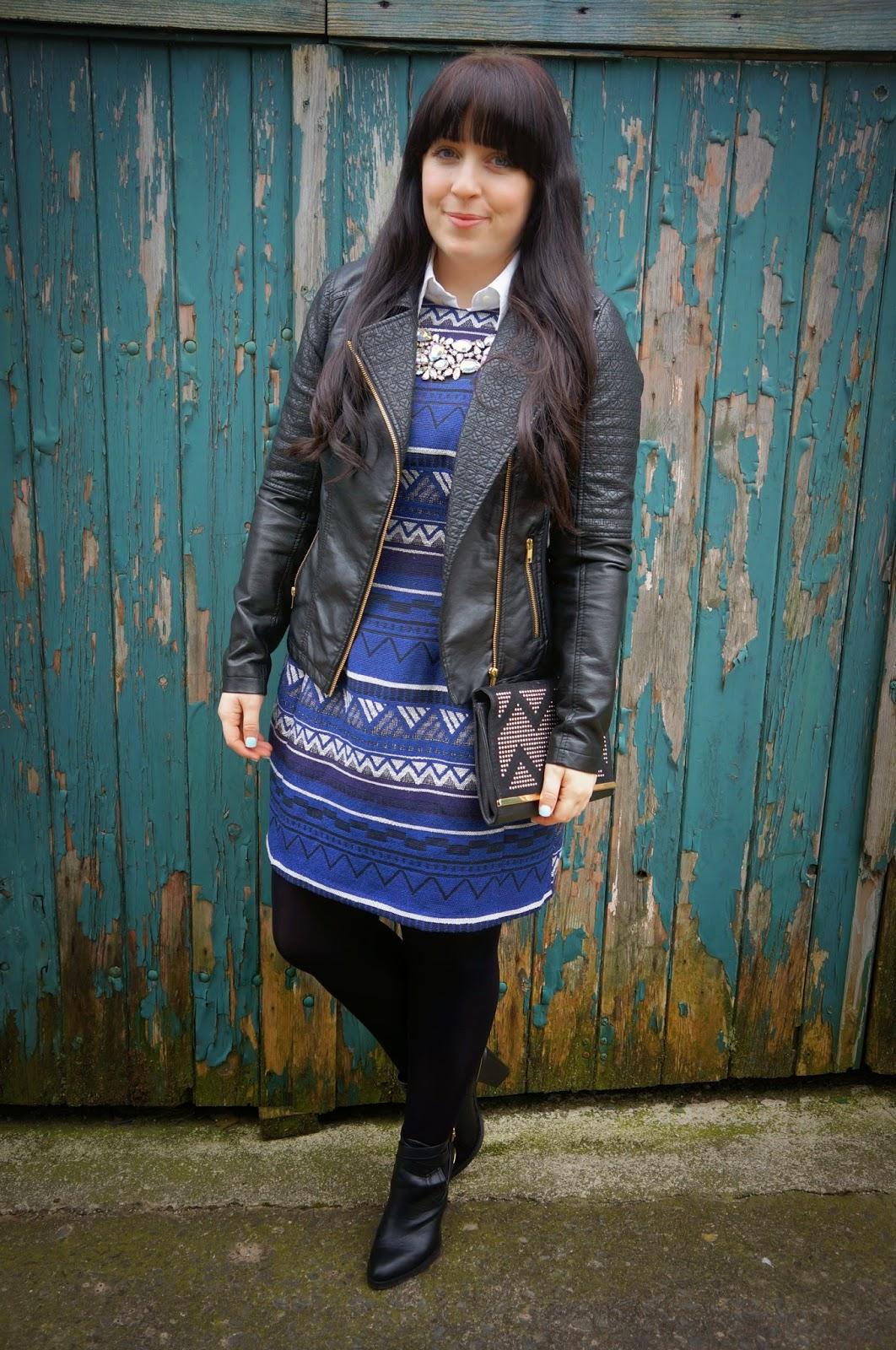 Frock Swap UK :: Rachel's Aztec Dress mixed with a Statement Necklace