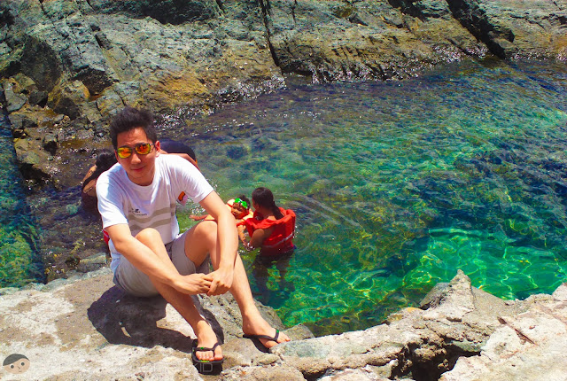 Crystal clear water in the White Castle Island of Subic
