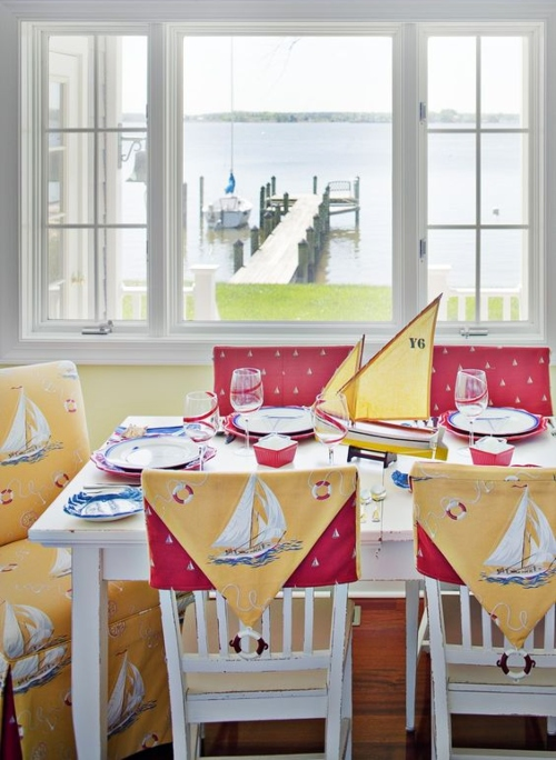 Nautical dining room design styling idea
