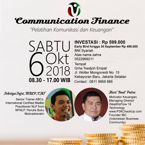 Communinance (Communication & Finance), PELATIHAN KOMUNIKASI & KEUANGAN