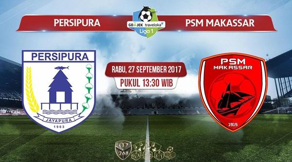 Prediksi Bola : Persipura Jayapura Vs PSM Makassar , Rabu 27 September 2017 Pukul 13.30 WIB
