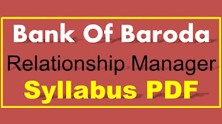 BOB Relationship Manager Syllabus PDF Download