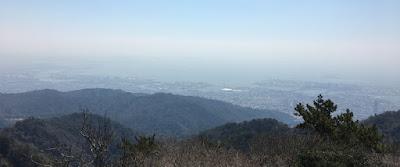 六甲山頂展望台からの景色
