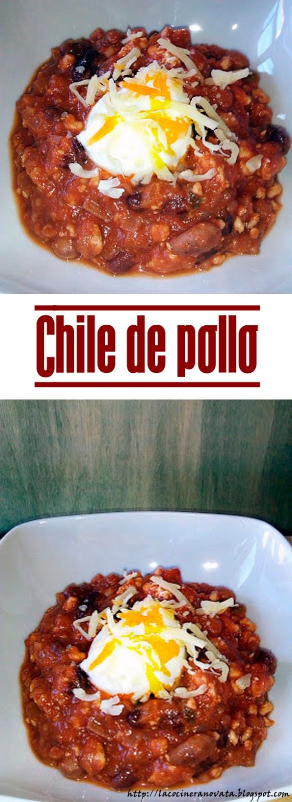 CHILE CON POLLO la cocinera novata COCINA RECETA PLATO MEXICO MEXICANO TEX MEX JUDIAS ROJAS PINTAS CACAO COMINO CILANTRO