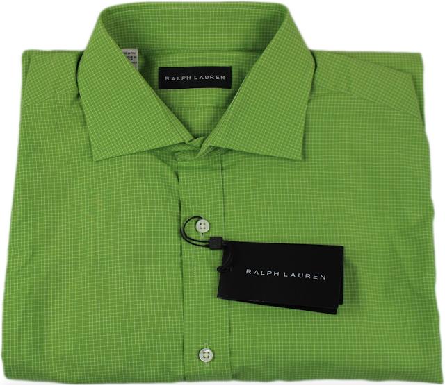 Ralph Lauren Black Label Green Check Pattern Shirt