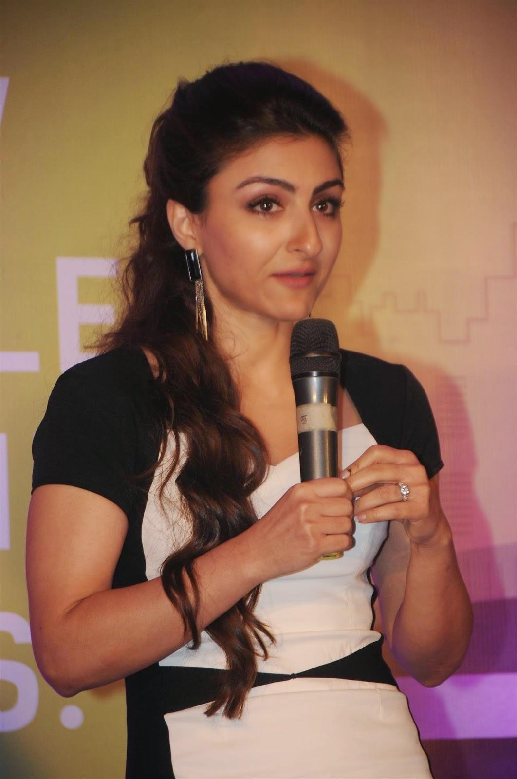 Soha Ali Khan Hot Stills In Black Dress