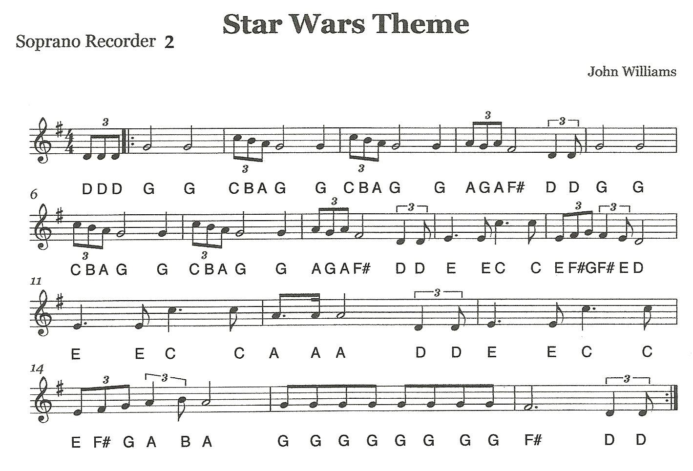 "Third Street Music: Recorder Ensemble - ""Star Wars ..."