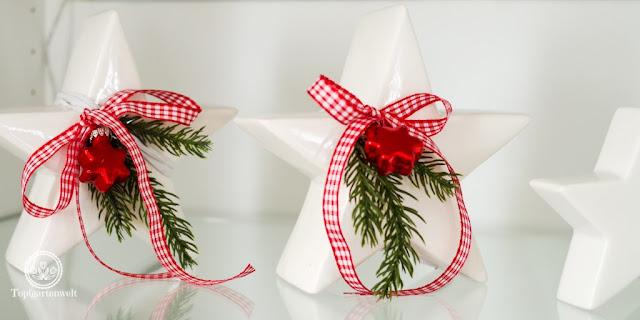Weihnachtsdekoration weihnachtliche Dekoration für rot weisses Geschirr - Blog Topfgartenwelt
