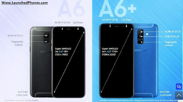 These launched phones became the get-go phones of the Samsung  Samsung A6 2018 together with A6 Plus 2018 launched