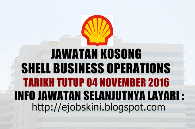 Jawatan Kosong Shell Business Operations Oktober 2016