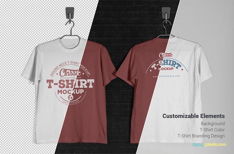 80 best free t shirt mockup psd templates tinydesignr for Mockup generator t shirt