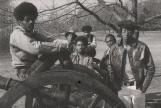 Kool & The Gang, 1970. L-R Ronald Bell, Robert Kool Bell, Claydes Smith, Robert Spike Mickens, George Brown, Ricky West