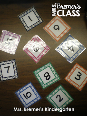 Number recognition math game perfect for Kindergarten
