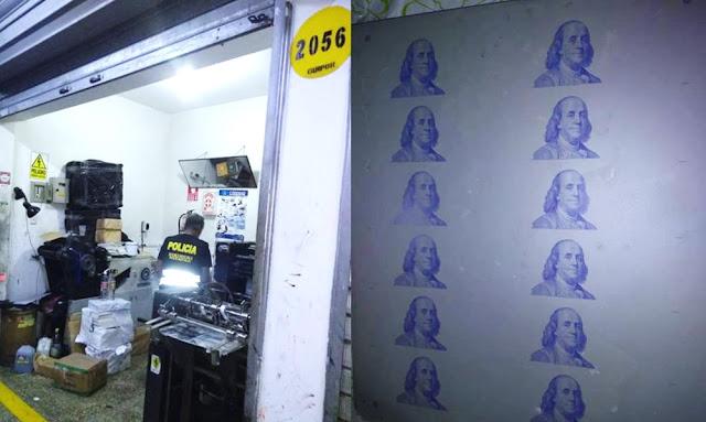 PNP incautó dos máquinas offset usadas para impresión de billetes