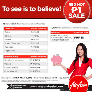 AirAsia Philippines Promo, AirAsia Philippines Piso sale