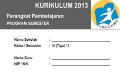 Program Semester Kelas 3 Kurikulum 2013 Semester 1 Edisi Terbaru