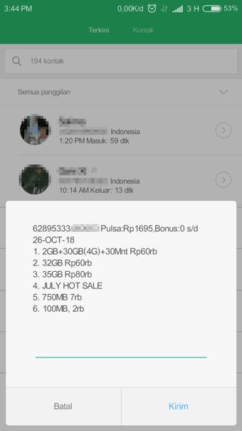 Daftar Paket Internet Tri 4G Nonstop 32 GB