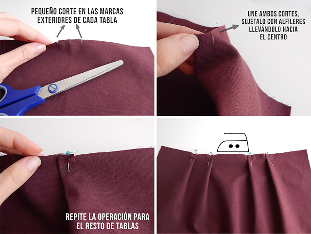 falda tableada diy