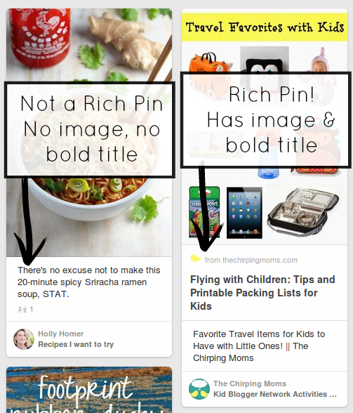 Pinterest tips for bloggers: Rich pins vs non-rich pins from And Next Comes L