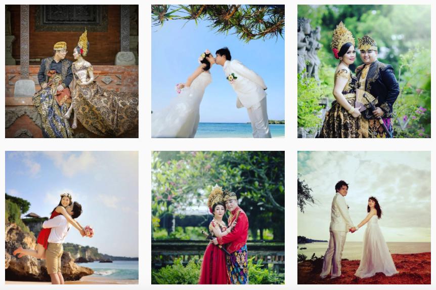 Sewa gaun bridal bali paket pre wedding murah rias make up hairdo