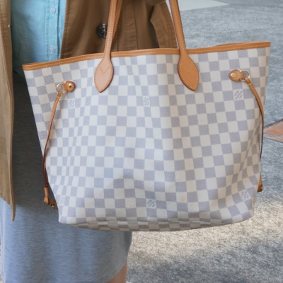 Away From Blue | Louis Vuitton MM damier azur neverfull office wear