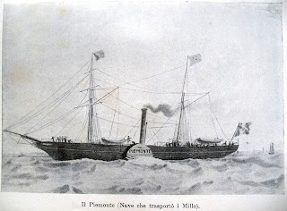 The Piemonte, one of the two steamships that carried Garibaldi's men from Genoa to Sicily