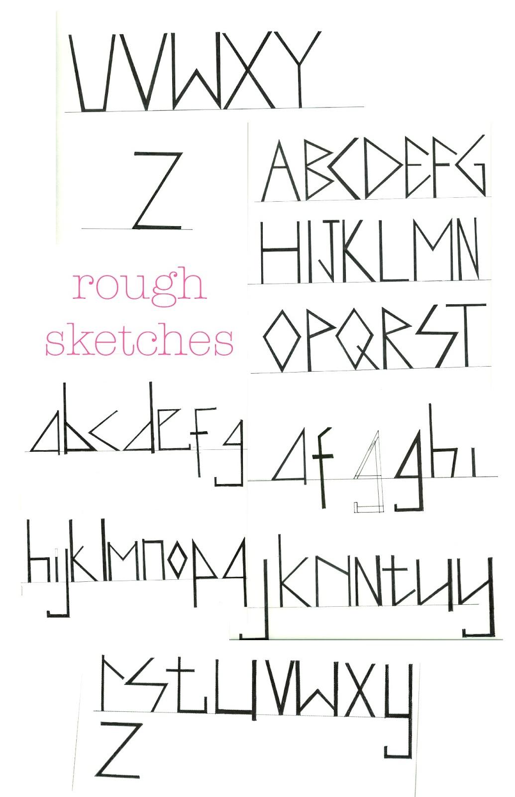 CATHERINE KOSASIH: Traditional Aztec: Personal Typeface