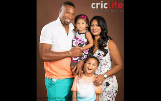 Kieron Pollard and his family