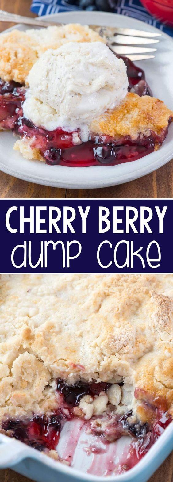 Cherry Berry Dump Cake Recipe