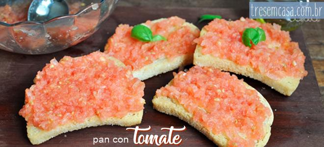 receita de pan con tomate