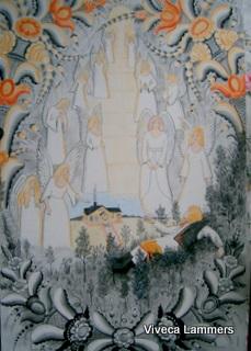 Dalmålning av Viveca Lammers   Jakobs stege