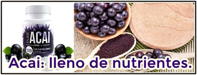 El acai es una poderosa fruta llena de nutrientes antioxidantes