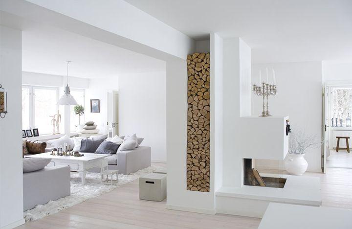 Orzeszkowe Pole Jak Przechowywać Drewno Kominkowe W Salonie