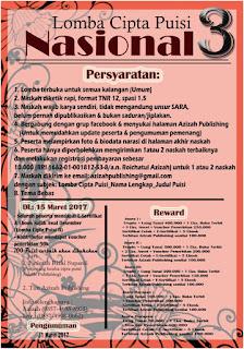 Lomba Menulis Puisi Tingkat Nasional III - Azizah Publishing