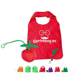 Bolsas plegables forma de tomate