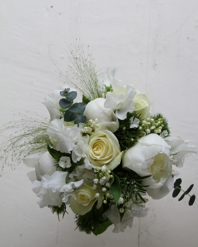 Wedding Flowers Lancashire: The Flower Magician: Classic White Wedding Bouquet Of