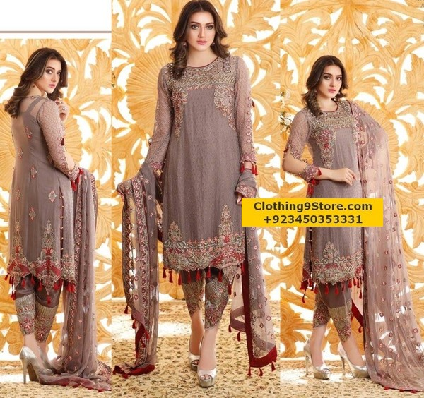 Images of pakistani party dresses 2018