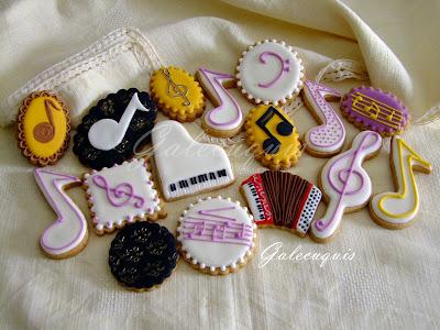galletas de glasa musicales