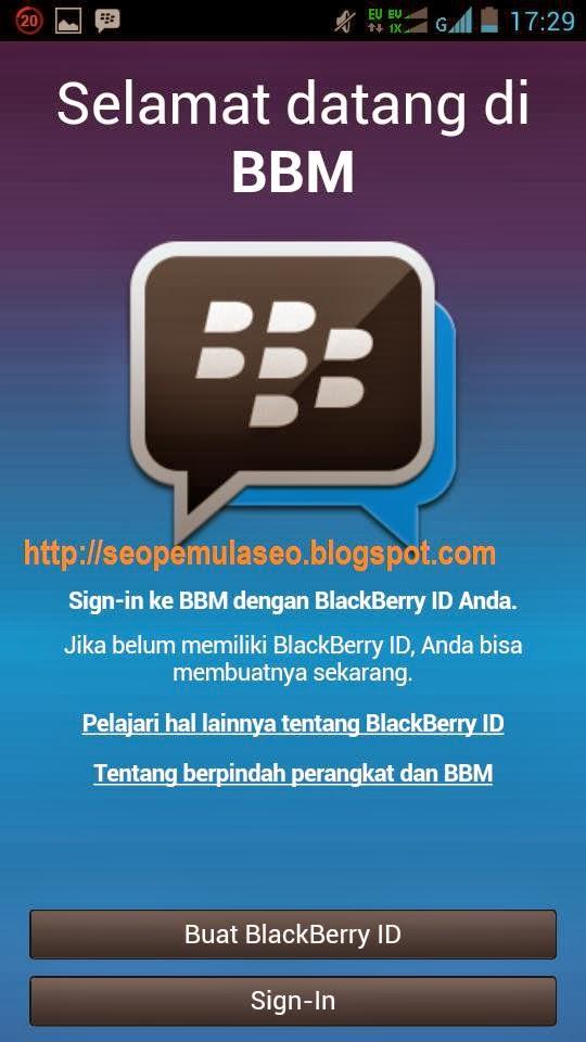"diarahkan untuk membuat BackBerry ID anda. klik "" Buat BlackBerry ID"