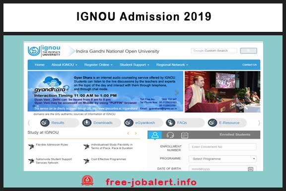 IGNOU Admission 2019: Apply online for the Indira Gandhi National Open University June 2019 Exam