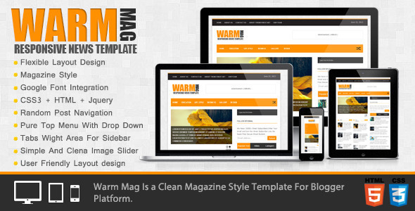 Warmag blogger template free download
